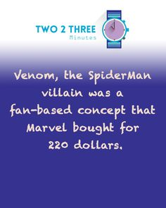 spiderman - venom - facts
