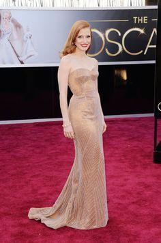 Academy Awards 2013: Jessica Chastain in Armani Privé.