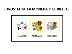Euros 2. Elige la moneda o billete. Raquel Andrés Gimeno