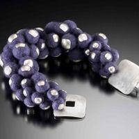 Purple Felt Bracelet by Tara Turner