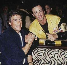Jean Claude Van Damme y Sylvester Stallone. Sylvester Stallone, Kickboxing, Taekwondo, Muay Thai, Karate Shotokan, Claude Van Damme, Boys Don't Cry, Rocky Balboa, Martial Artists