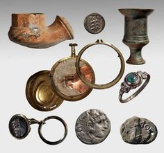 Some of the artifacts found aboard Mentor, Lord Elgin's ship that sank off Kythera while carrying Parthenon marbles from Piraeus to London in 1802.