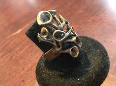 Hannu Ikonen Reindeer Moss Ring Solid Bronze Vintage