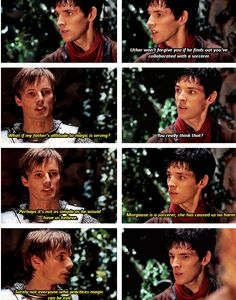 This is where Merlin realizes the hope Arthur represents. Merlin Show, Merlin Fandom, Merlin Merlin, Hope Light, Merlin Colin Morgan, Merlin And Arthur, Bradley James, Great Tv Shows, Narnia