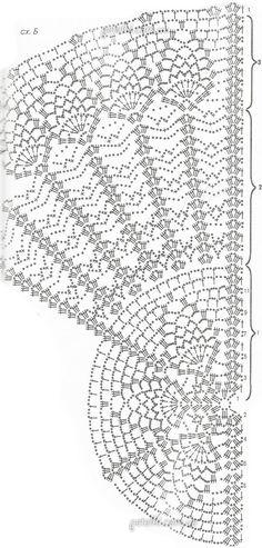 Воздушная накидка крючком. Описание вязания, схемы