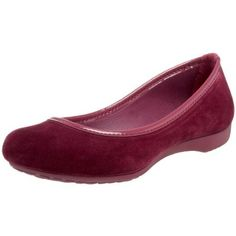 crocs Women`s Lily Winter Velvet Ballet Flat,Plum/Plum,4 M US $21.97