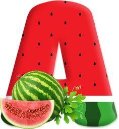 Blindada por Deus: Alfabeto Melancia Watermelon Birthday Parties, 2nd Birthday Party Themes, Baby Birthday, Birthday Letters, Birthday Cards, Maluma Pretty Boy, Watermelon Man, Love Png, Minnie Png