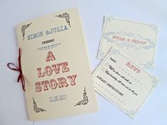 Vintage Wedding invitation book