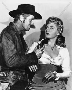 WINCHESTER '73 (1950) - James Stewart - Shelley Winters (pictured) - Dan Duryea (pictured) - Stephen McNally (pictured) - Directed by Anthony Mann - University-International - Publicity Still.