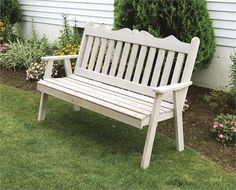 Nice garden bench. The Amish make it so it must be good. Ironic something Amish on pinterest. How would they ever know?
