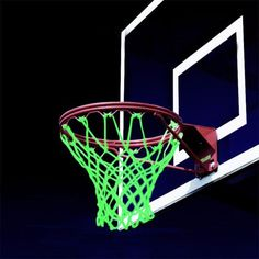 Glowing Light Shooting Training Green Luminous Basketball Net