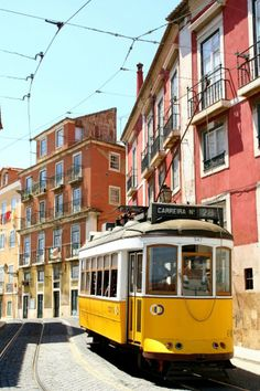 Finding the hidden playgrounds in Lisbon's most beautiful spots - via One Tiny Leap 16.05.2014 | (Lisbon)... has in fact dozens of playgrounds, hiding in quiet corners or squares and just waiting to be explored by budding young travelers. | Photo: Tram in Alfama, Lisbon - Portugal