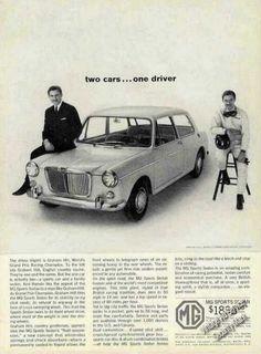 Mg Sports Sedan 2 Cars One Driver Graham Hill (1963)
