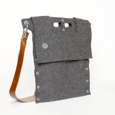 felt shoulder bag by Mauro Bianucci
