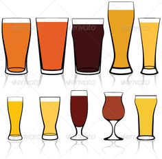 VECTOR DOWNLOAD (.ai, .psd) :: http://vector-graphic.de/pinterest-itmid-1004516404i.html ... Beer Glasses Styles ...  alcohol, ale, bar, beer, club, glass, icon, liquid, pint, restaurant, set, thirsty, vector, wine  ... Vectors Graphics Design Illustration Isolated Vector Templates Textures Stock Business Realistic eCommerce Wordpress Infographics Element Print Webdesign ... DOWNLOAD :: http://vector-graphic.de/pinterest-itmid-1004516404i.html