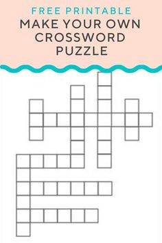 Use our crossword puzzle maker to create your own crossword puzzle with custom words and clues to quiz kids on vocabulary, reading comprehension, and more. Crossword Puzzle Maker, Free Printable Crossword Puzzles, Word Puzzle Games, Alphabet Games, Printable Worksheets, Worksheet Generator, Mazes For Kids, Word Search Puzzles, 3d Puzzles