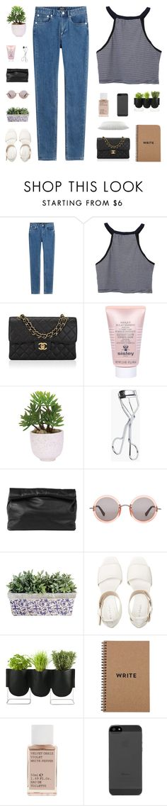 """""""she put the s-o-b in sober"""" by my-pink-wings ❤ liked on Polyvore featuring A.P.C., Chanel, Sisley, Lux-Art Silks, Marie Turnor, The Row, Authentics, Korres and country"""