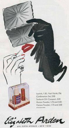 Vintage Coty lipstick advertisement