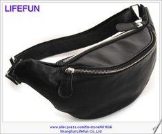 Nueva marca para mujer del cuero genuino mujeres hombres paquete de la cintura bolsa hombro bolsa deporte LF02088
