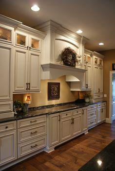 Painting Oak Cabinets Antique White | Custom Antique ...