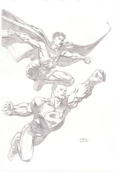 Homage to Superman Batman 26 Cover: Red Robin and Superboy by David Finch in Honor of Michael Turner SDCC 2009, in Raymond AKAPinoy Boy 's A Superboy Gallery-Sketches and Commissions Comic Art Gallery Room - 543389