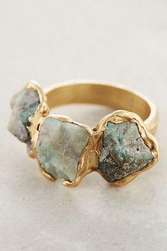 Maneto Emerald Ring #anthropologie