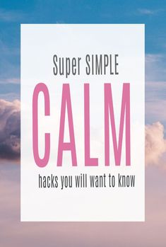 Calm hacks for a happy life, to help you feel more relaxed, clearer and essentially happier. Easy and simple ways to improve your emotional health and wellbeing  #wellbeing #wellness #calm #abeautifulspace How To Relax Yourself, Improve Yourself, Breath In Breath Out, Calm Down, Stressed Out, Health And Wellbeing, Simple Way, Feel Better, Happy Life