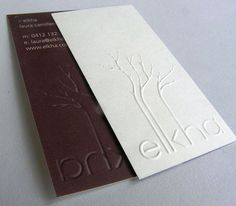 white brown business card 40 Embossed Business Cards