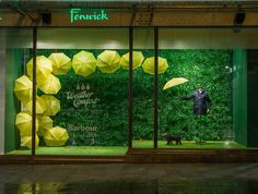 "FENWICK, Newcastle, UK, ""When life throws you a rainy day... Play in the puddles!"", for Barbour Weather Comfort Collection, photo/creative by Millington Associates, pinned by Ton van der Veer"