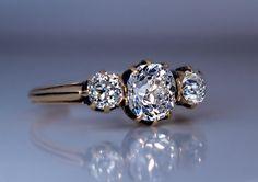 Oval Shaped Engagement Rings, Engagement Ring Shapes, Three Stone Engagement Rings, Three Stone Rings, Antique Engagement Rings, Diamond Engagement Rings, Faberge Eggs, Cushion Cut Diamonds, European Cut Diamonds