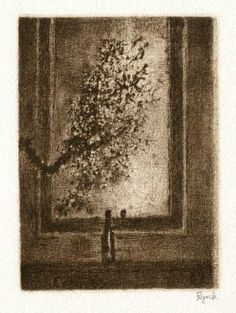 Bohuslav Reynek Trnky před zrcadlem / Sloas in front of the Mirror suchá jehla / dry point x cm, opus G 463 Still Life, Vintage World Maps, Art Gallery, Windows, Mirror, Prints, Painting, Art Museum, Mirrors