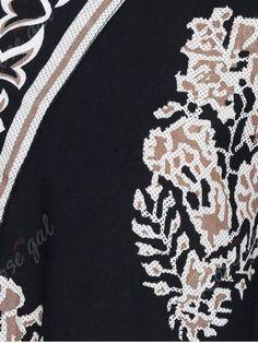 Impresión floral de la blusa Sobrepelliz