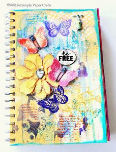 Simply Paper Crafts: Stamp in Different Ways Butterfly Art Journal