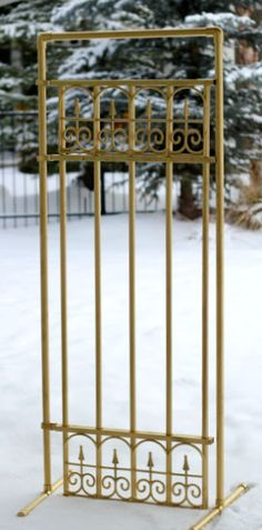 make your own gate prop with pvc pipe and gold spray paint