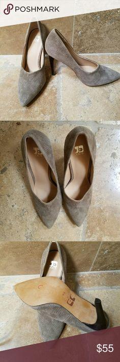 """Joe's Heels. Snake skin like pattern. Suede-ish. New.  Never worn. Taupe colored. 4"""" heel. Joe's  Shoes Heels"""