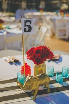 Cute elefant table number