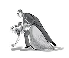 Fred and Ginger / by ncdoodles (formerly scribbledigooks) #artwork #popculture #fredastaire #gingerrogers