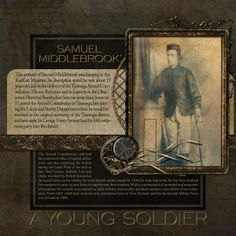 A Young Soldier Digital Scrapbook Family History Page by Lauren