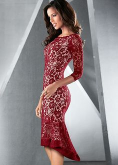 Short lace dress in the VENUS Line of Dresses for Women
