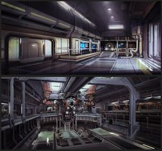 ArtStation - Factory Interiors, Chris Chaproniere