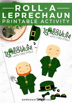 Get ready for a night of family fun with some simple Leprechaun Games! This Roll A Leprechaun Dice Activity can't get any easier to prepare and play. The game is perfect for both kids and adults! Group Activities For Adults, Craft Activities For Kids, Games For Kids, Elderly Activities, Leprechaun Games, Roll A Story, St. Patrick's Day Diy, St Patricks Day Crafts For Kids, Lego For Kids