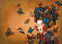 O Tapete Vermelho da Imagem: Images' Red Carpet: Madame Butterfly ilustrada pelo excepcional Benjamin Lacombe / Madame Butterfly illustrated by Benjamin Lacombe Art And Illustration, Madame Butterfly, Butterfly Art, Butterflies, Butterfly Design, Albin Michel Jeunesse, Art Papillon, Illustrator, Pop Surrealism