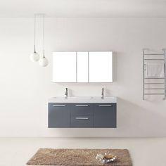 """Virtu USA Midori 54"""" Double Bathroom Vanity Set"""