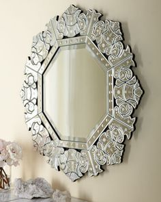 """""""Ornate Crown"""" Mirror at Horchow."""