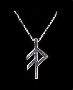 e14768fcdb0 Sterling Rune Pendant - Grace Mens Leather Necklace