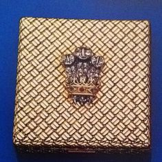 "Love stuff like this-- a compact with the Prince of Wales feather motif in diamonds-- part of a 6 piece "" handbag suite"" including comb holder, lipstick holder, notebook, and pill box all by Van Cleef , all applied with personal ciphers meaning something to the couple and all inscribed inside The Duchess of Windsor."
