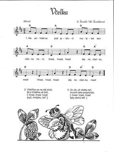 Včelka Music Page, Music Do, Sudoku, Dinosaur Party, Kids And Parenting, Sheet Music, Kindergarten, Preschool, Classroom