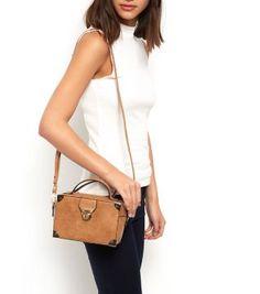 Tan Mini Box Across Body Bag