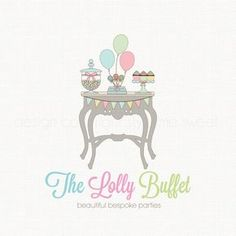 Party Boutique Logo Premade Logo Design by BloomingJuneDesignCo Foil Business Cards, Modern Business Cards, Business Logo, Candy Logo, Logo Floral, Logo Desing, Happy Birthday Pictures, Bakery Logo, Boutique Logo