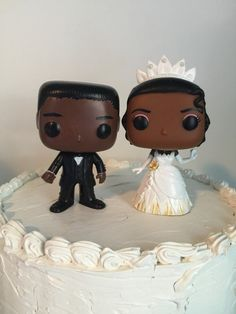 Tiana and groom Funko Pop Wedding Cake Topper Disney's The Princess and the Frog